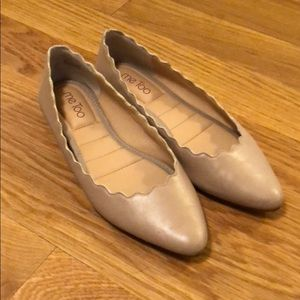 Me Too Nude Scalloped Flats 8